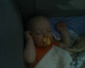 It was so rare to catch Noah sleeping that we would take pictures of him like freaks when he was!
